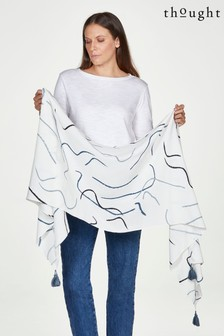 Thought Cream Scarf
