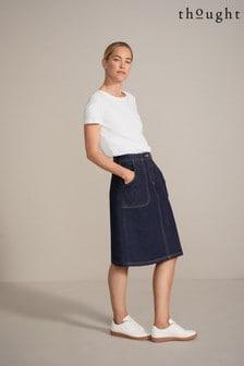 Thought GOTS Organic Cotton Essential Denim Skirt