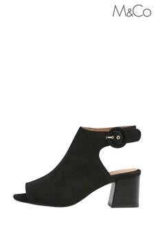 M&Co Black Open Toe Sandals