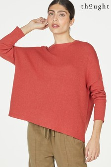 Thought Red Kate Organic Cotton Wool Slouchy Jumper