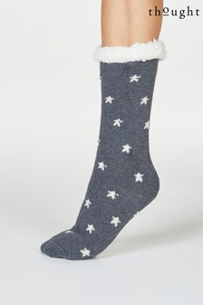 Thought Grey Brittany Starry Organic Cotton Cabin Socks