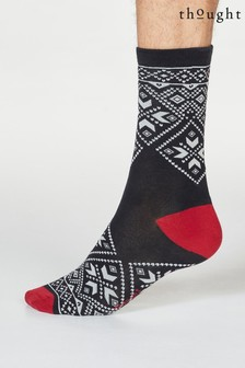 Thought Blue Hector Christmas Jumper Organic Cotton Gift Socks