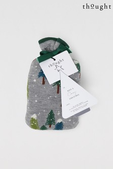 Thought Grey Forest & Spotty Bamboo Organic Cotton Gift 2 Pair Socks