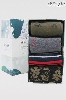 Thought Green Glenn Classic 4 Sock Bamboo Organic Cotton Gift Box