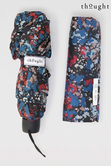 Thought Black Zambaco Recycled Polyester Printed Umbrella