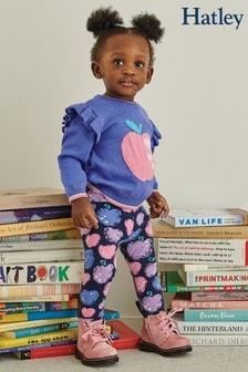 Hatley Blue Apple Baby Ruffle Sleeve Sweater