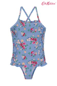 Cath Kidston Baby Blue Small Summer Floral Shirred Swimsuit