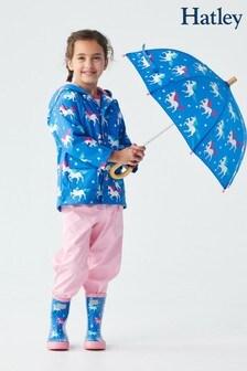 Hatley Blue Twinkle Unicorns Colour Changing Raincoat
