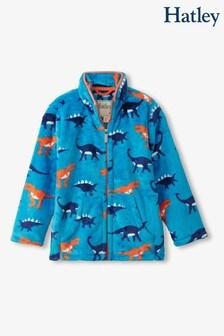 Hatley Blue Wild Dinos Zip-Up Fuzzy Fleece