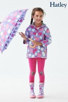 Hatley Purple Stamped Apples Raincoat