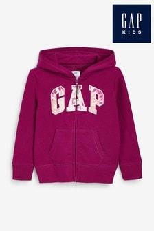 Gap Tie Dye Infill Logo Zip Hoodie