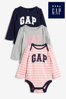 Gap Baby Logo Bodysuit Three Pack