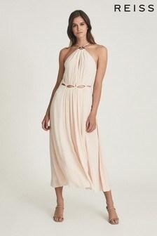 REISS Marta Resortwear Midi Dress