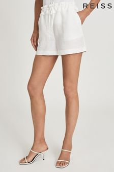 Reiss Lacey Linen Blend Drawcord Shorts