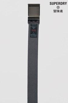 Superdry Grey Reverse Canvas Belt