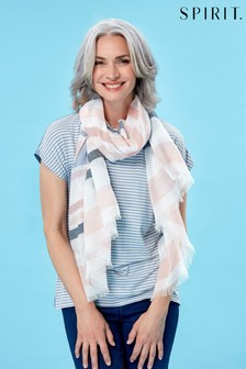 Spirit Blue Two-in-One Scarf Stripe Top