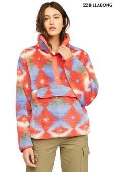 Billabong Women Orange Switchback Fleece