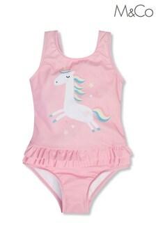 M&Co Unicorn Ruffle Swimsuit