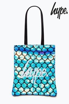 Hype. Blue Sequin Mermaid Tote Bag