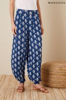 Monsoon Woodblock Print Hareem Trousers