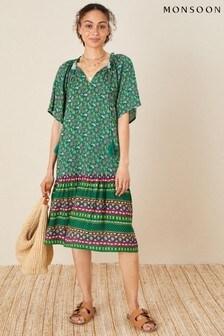 Monsoon Paisley Print Tunic Dress