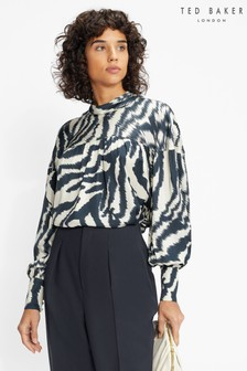 Ted Baker Batwing Sleeve High Neck Top