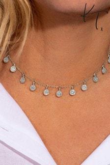 Kate Thornton Silver Pave Boho Choker Necklace