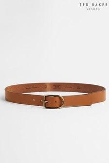 Ted Baker Ccactus Centre Bar Leather Belt