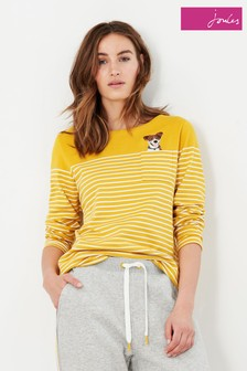 Joules Harbour Embellished Long Sleeve Jersey Top
