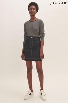 Jigsaw Denim 5-Pocket Mini Skirt