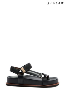 Jigsaw Ava Leather Footbed Sandals