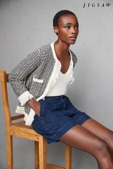 Jigsaw Tweed Boucle Knitted Jacket