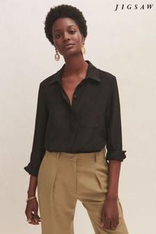 Jigsaw Silk Long Sleeve Shirt