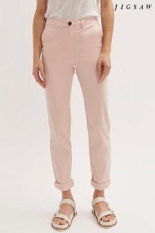 Jigsaw Slim Leg Cotton Chino Trousers