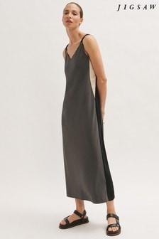 Jigsaw Satin Stripe Maxi Dress