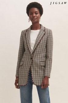 Jigsaw Cotton Boucle Ember Coat