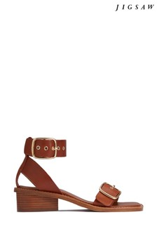 Jigsaw Oxley Leather Heeled Sandals