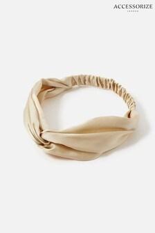 Accessorize Natural Twist Bando In Pure Silk