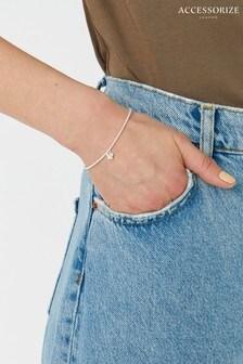 Accessorize Sterling Silver Butterfly Stretch Bracelet