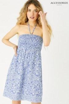 Accessorize Blue Paisley Bandeau Dress