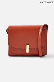 Accessorize Orange Abigail Turn Lock Cross-Body Bag