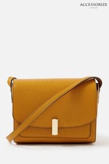 Accessorize Yellow Abigail Turn Lock Cross-Body Bag