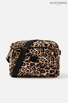Accessorize Leopard Megan Large Nylon Cross-Body Bag