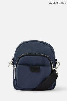 Accessorize Blue Maya Small Nylon Cross-Body Bag