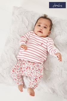 Joules 1 month-24 months Harbour Stripe Organically Grown Jersey Top