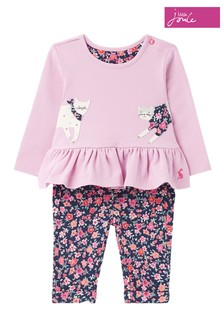 Joules 0-24 months Olivia Organically Grown Cotton Jersey Top and Trouser Set