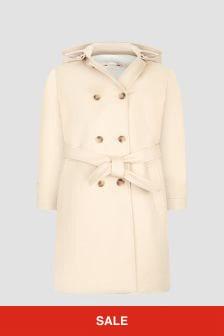 Bonpoint Girls Beige Coat