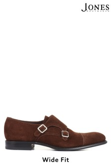 Design Loake by Jones Bootmaker Idaho Wide Fit Men's Leather Suede Monk Shoes
