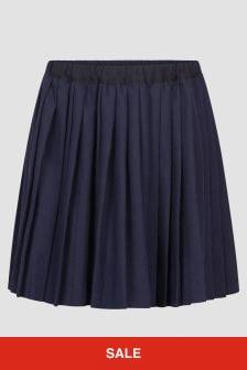 Bonpoint Girls Navy Skirt