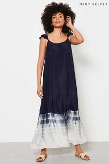 Mint Velvet Blue Selena Tie Dye Maxi Sun Dress